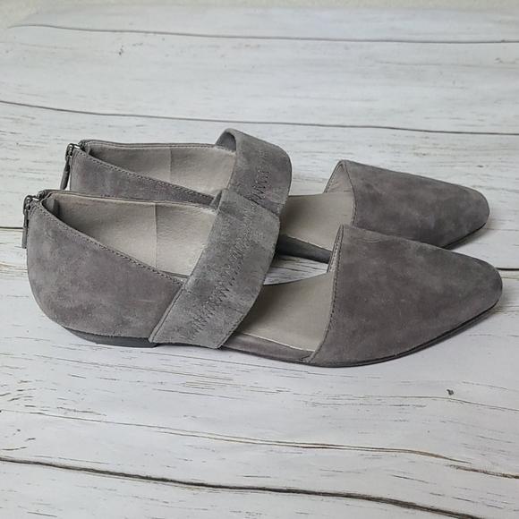 Eileen Fisher Gray Vero Flats Size 8